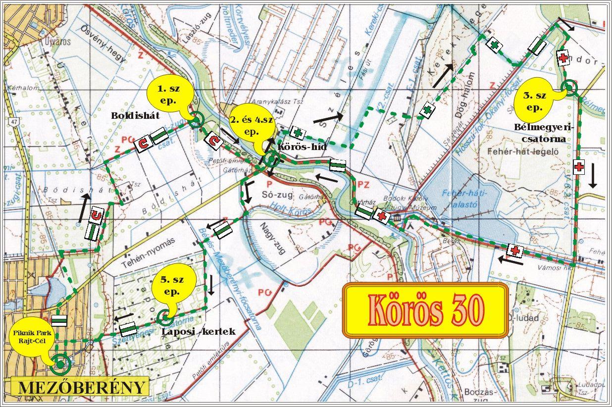 mezőberény térkép Körös 30   2009.06.06.   Mezõberény mezőberény térkép