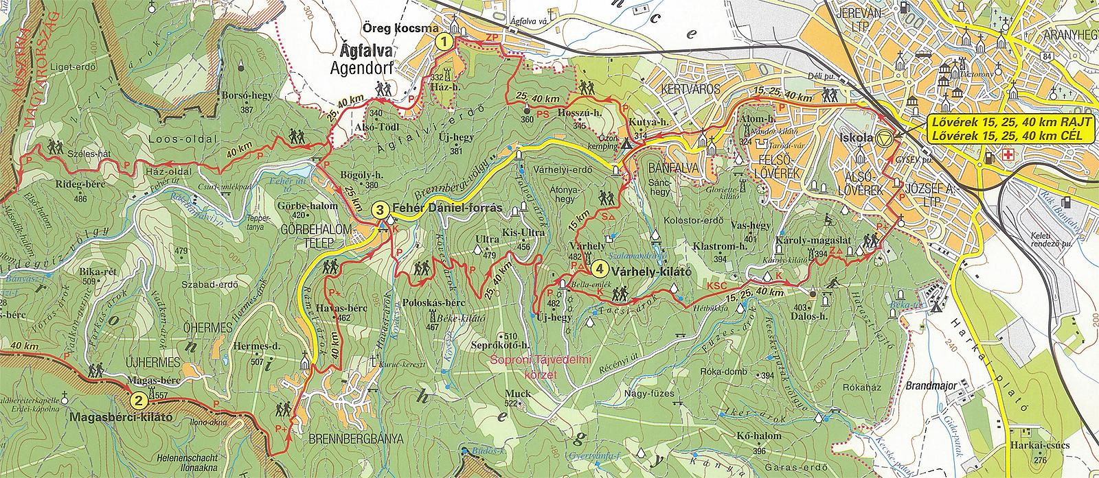 sopron lővérek térkép 2009 Túrák, fotók, tanácsok túraszervezéshez. sopron lővérek térkép