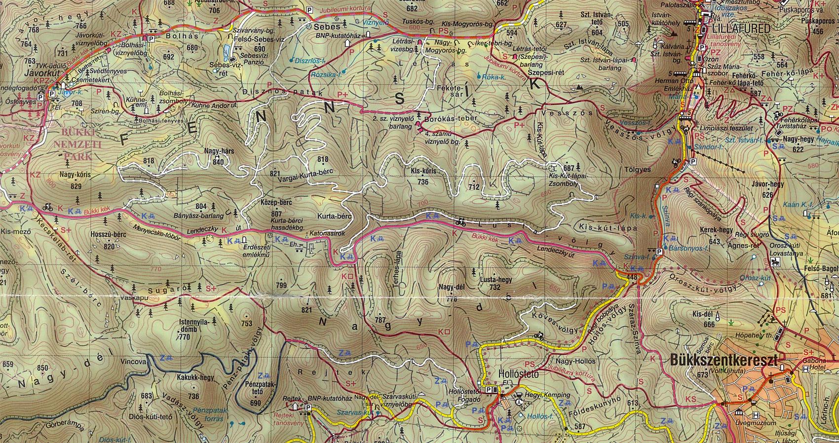 bükkszentkereszt térkép Bükk fennsík   2011.08.06. bükkszentkereszt térkép