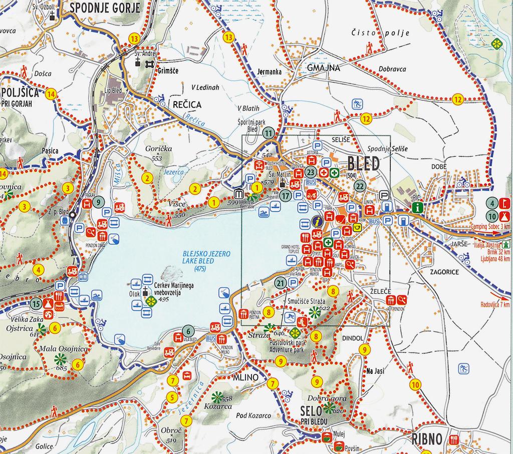 szlovénia látnivalók térkép Bled és környéke, Szlovénia 2014.05.04   2014.05.06. szlovénia látnivalók térkép