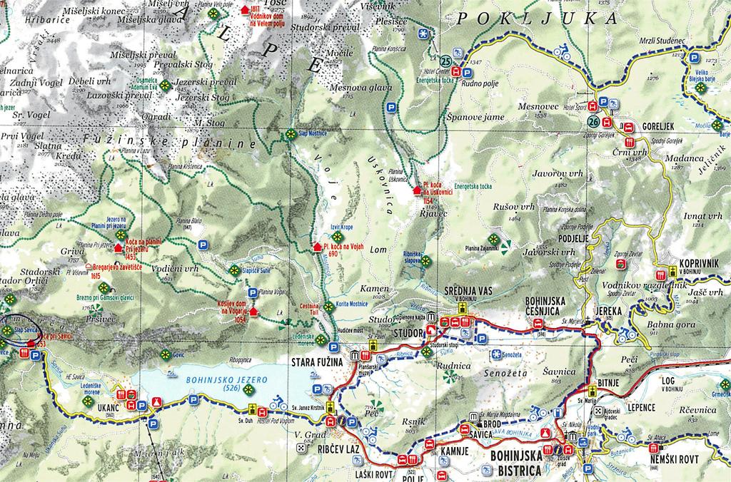 triglav túra térkép Bled és környéke, Szlovénia 2014.05.04   2014.05.06.