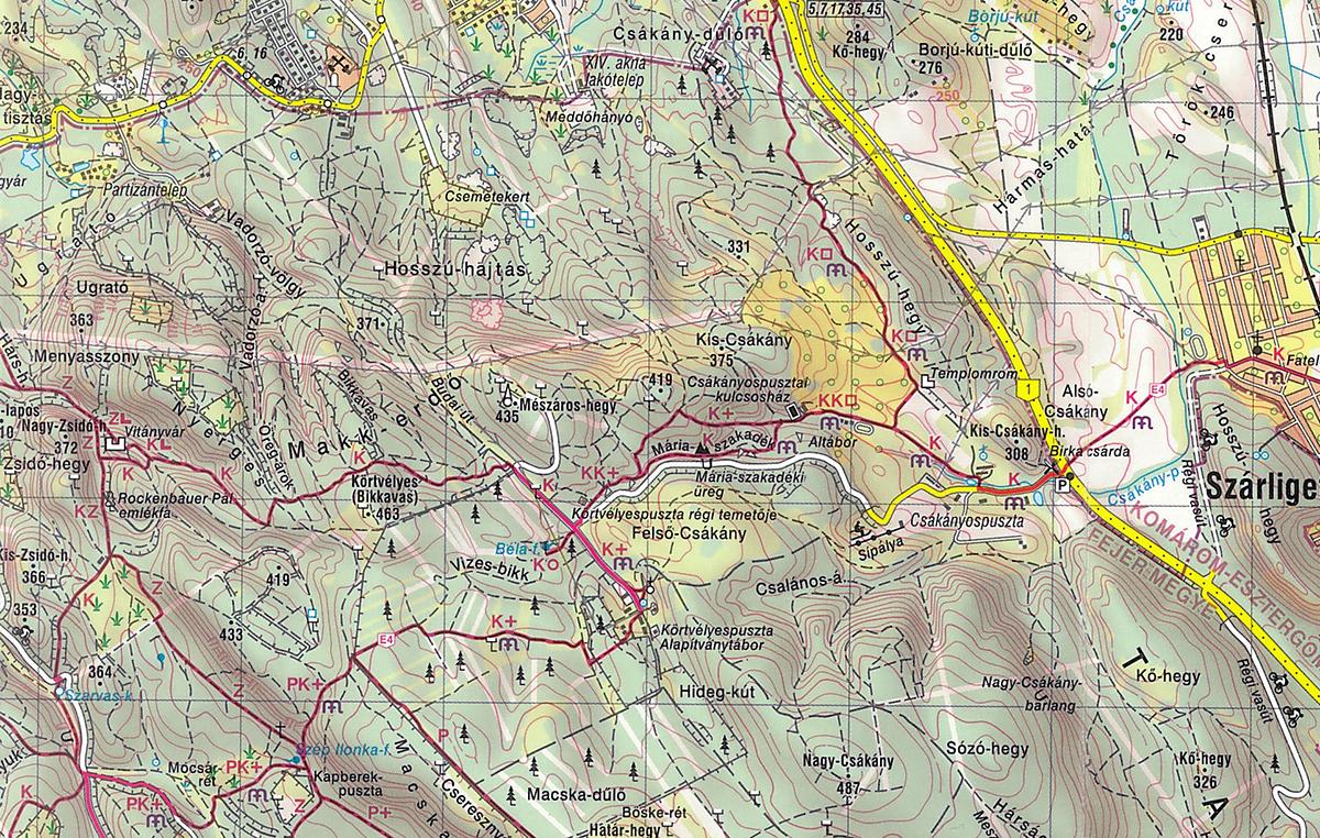 vértes térkép Vitányvár, Vértes   2016.01.30. vértes térkép