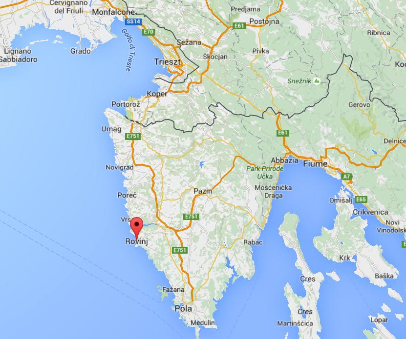 Horvatorszag Terkep