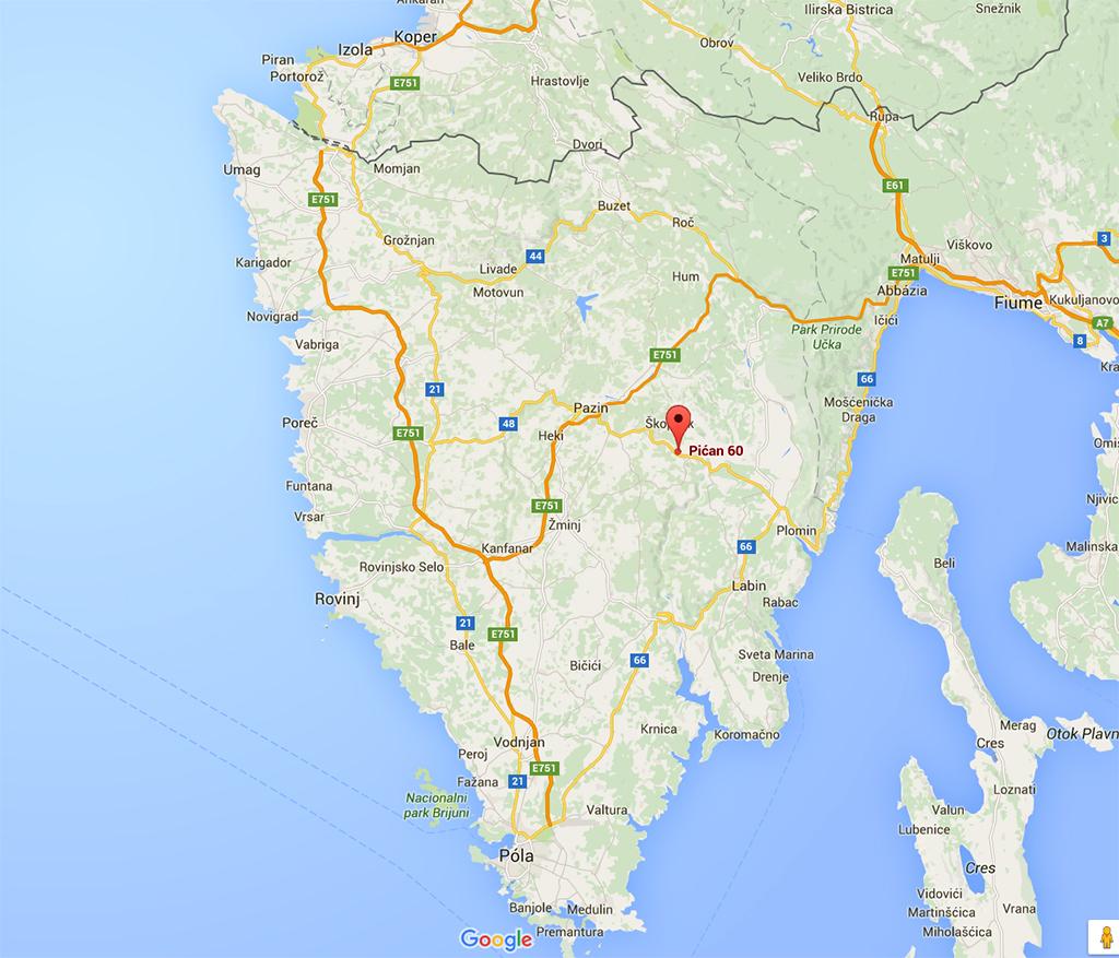 isztria térkép Rovinj (Horvátország)   2016.03.15. isztria térkép