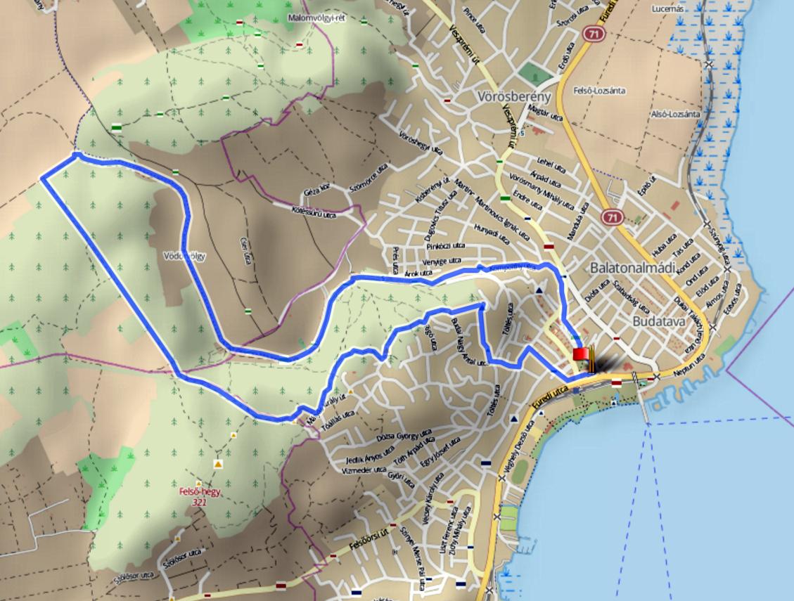 balatonalmádi térkép Balatonalmádi 11   2017.01.29. balatonalmádi térkép